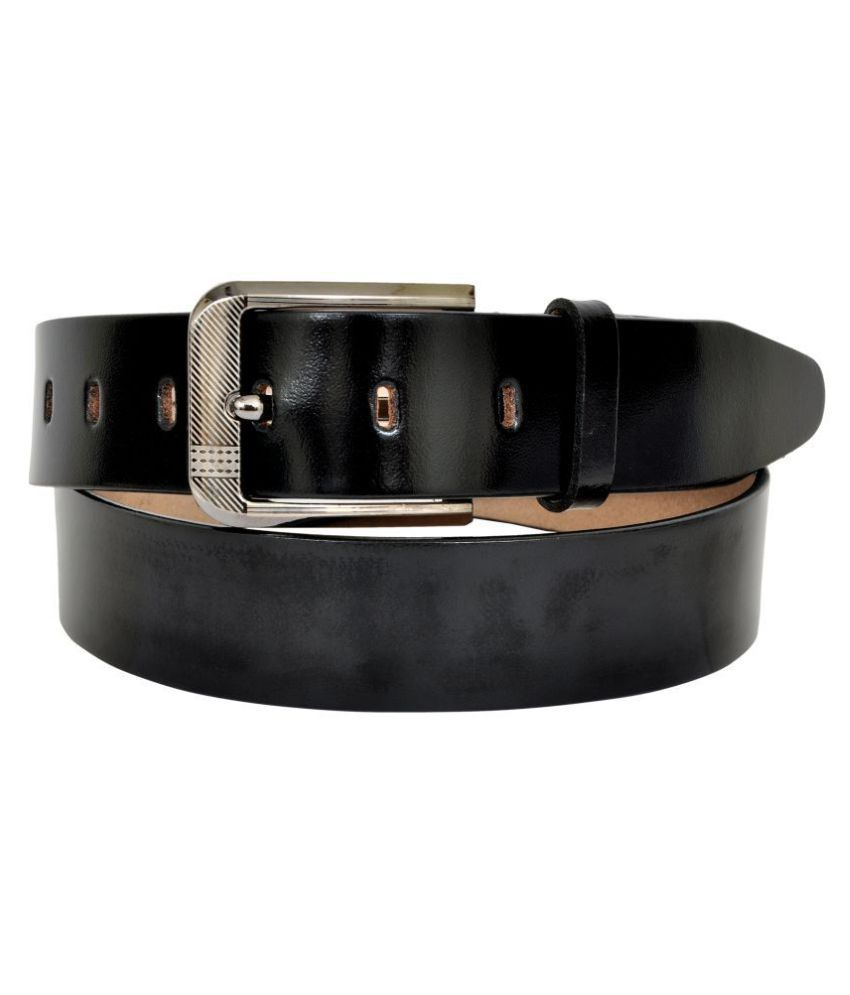 A S Leather Black Leather Casual Belts