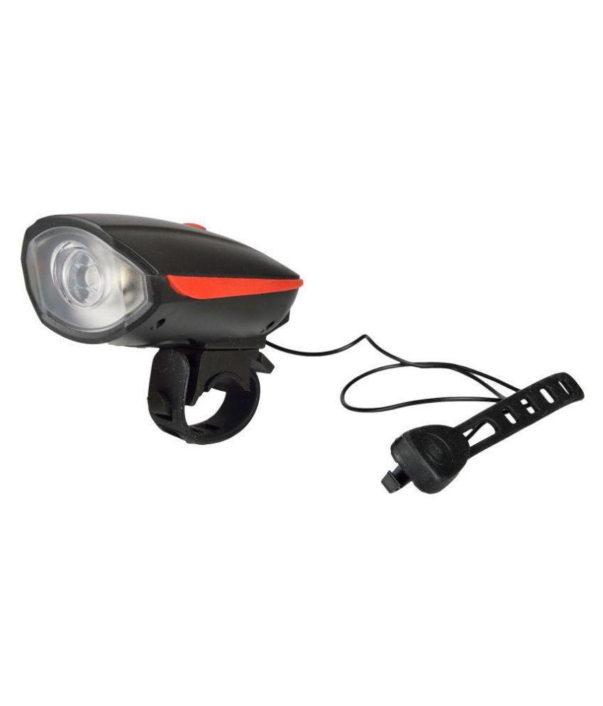 DarkHorse Bicycle  CE Standard USB Rechargeable 3 Mode Front light and Horn 2 in 1 Light/Horn, Red