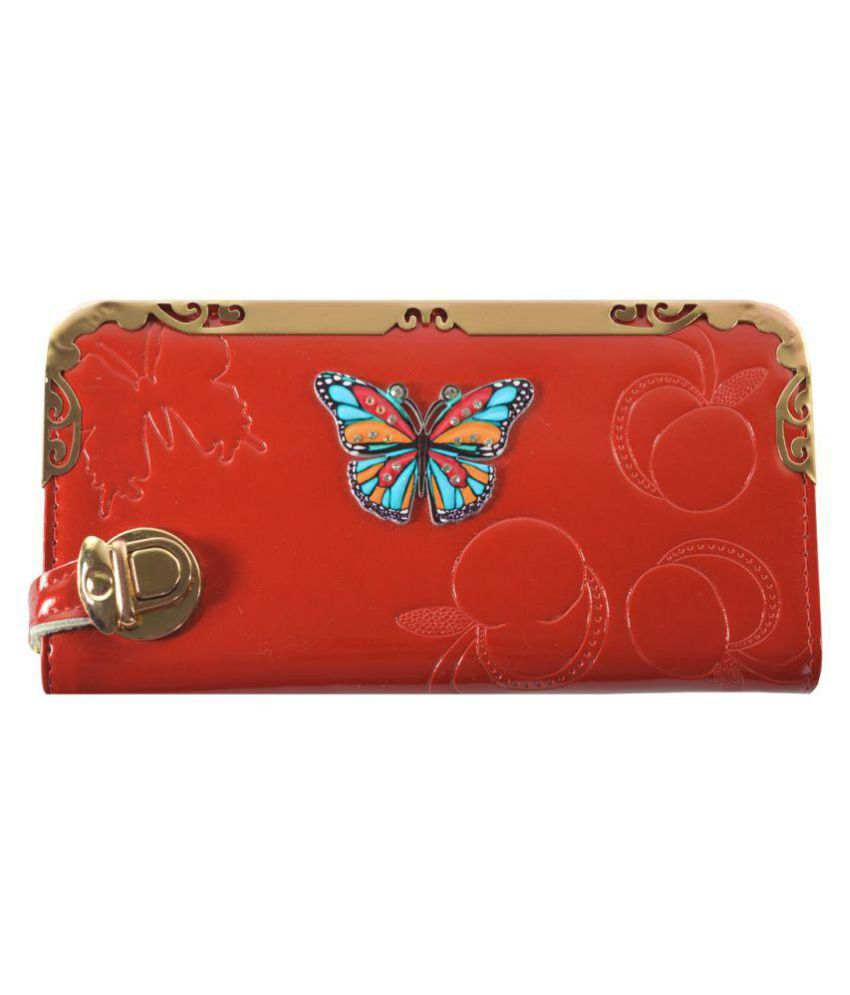 Glitters Online Red Wallet