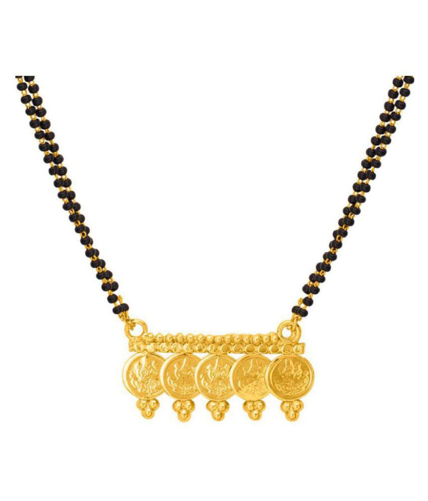 Voylla Lakshmi Engraved Over The Coin Mangalsutra For Indian Women for Women
