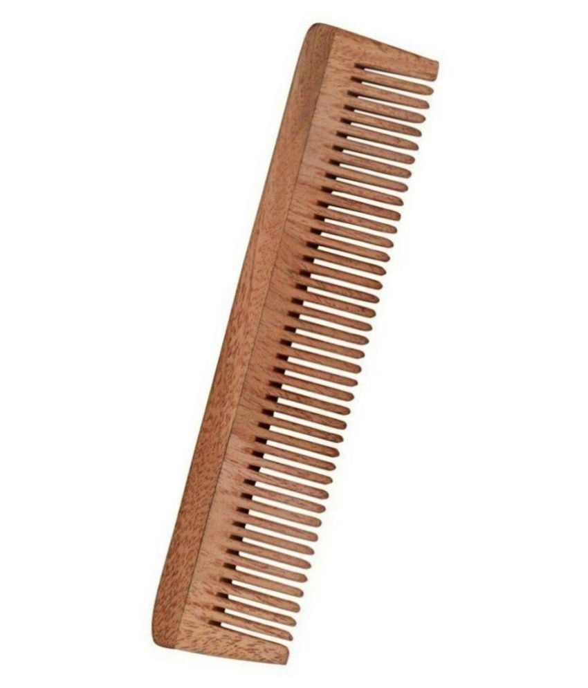 Majik World unisex hair wooden comb Wide tooth Comb