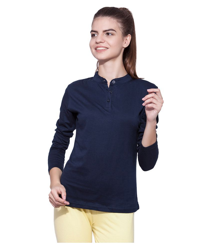 Ap'pulse Cotton Navy Polos