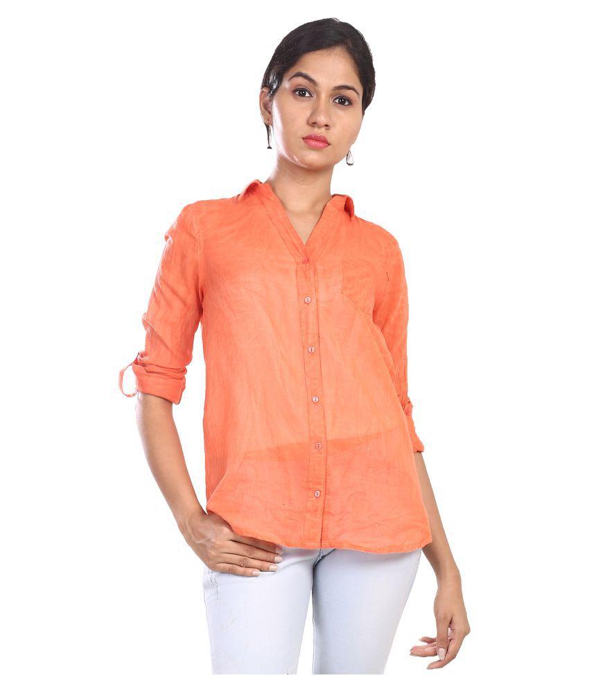 GOODWILL Orange Cotton Shirt