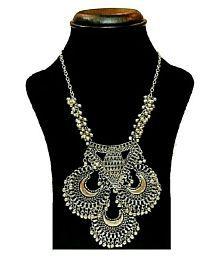 885edc201 Andaaz Designer Tribal Fashion Oxidized Silver Necklace for Girls ...