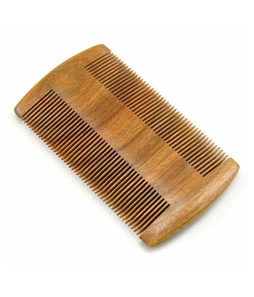 Majik World Men wooden beard comb Wide tooth Comb