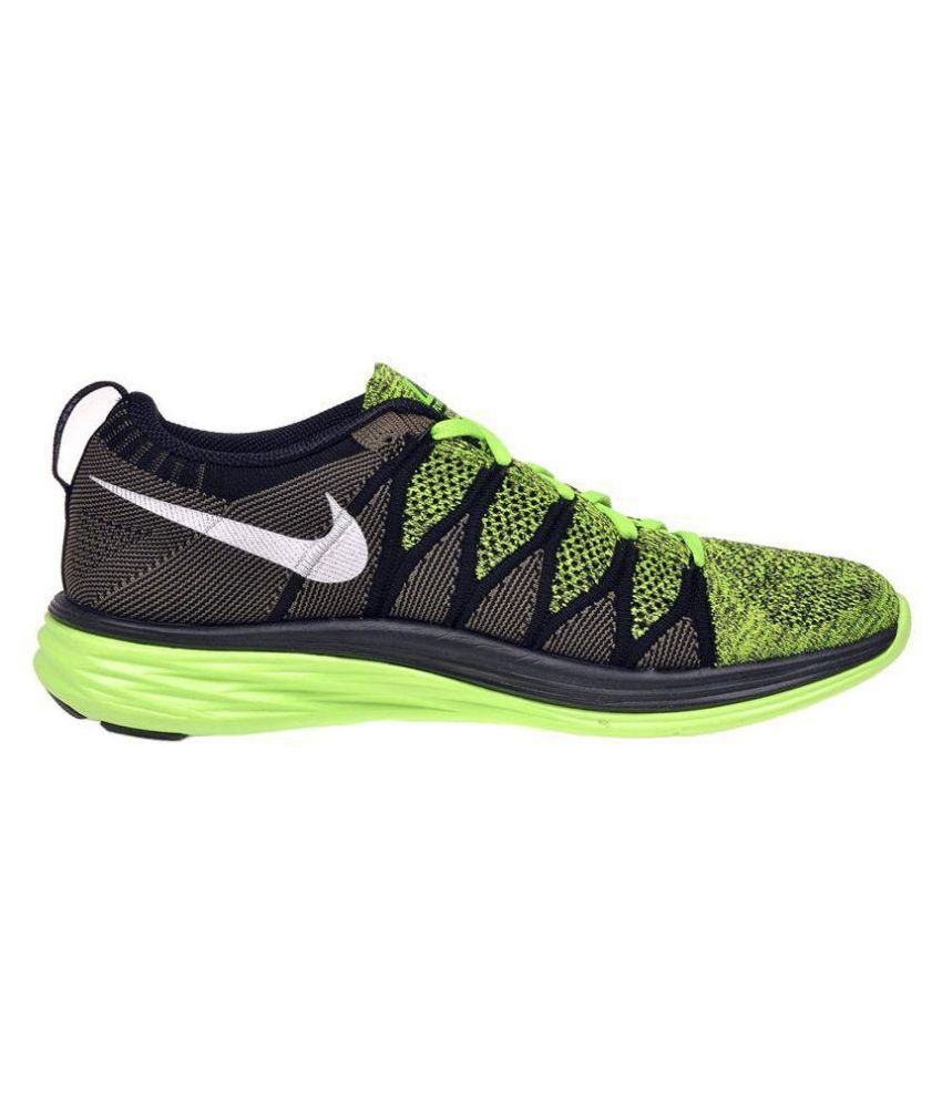 reputable site 1a44c 568dc ... Nike Flyknit Lunar 2 Lifestyle Green Casual Shoes ...