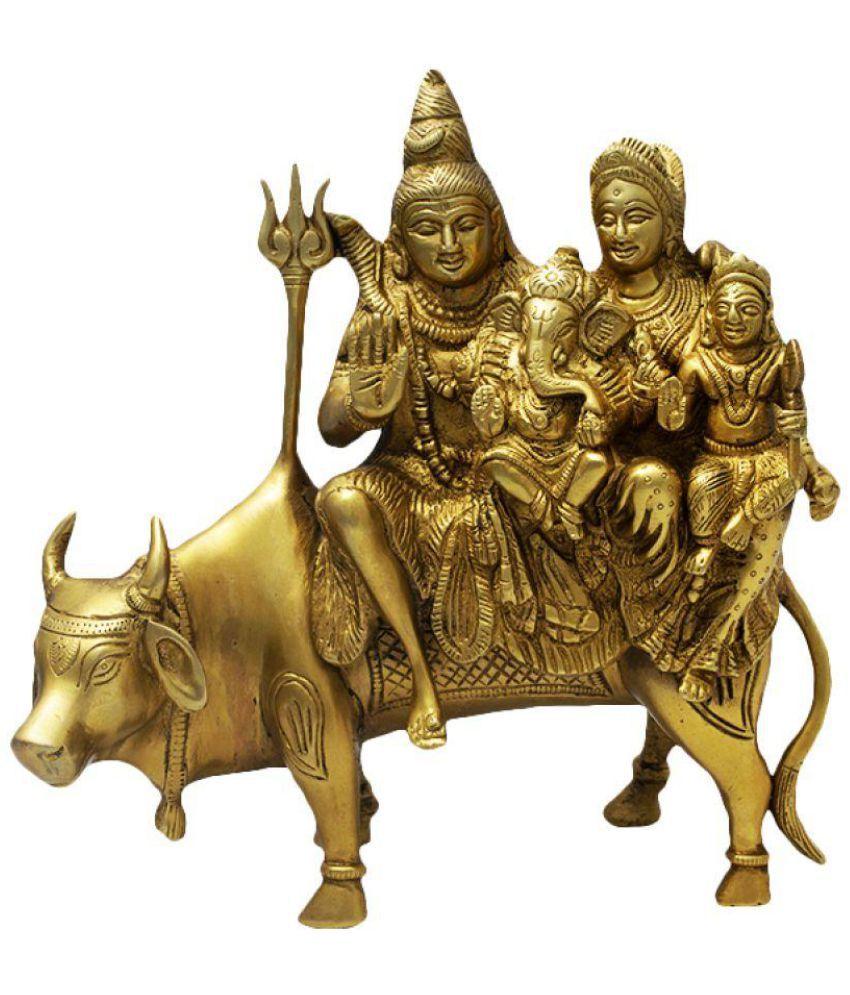 JY Shiv Family Brass Idol