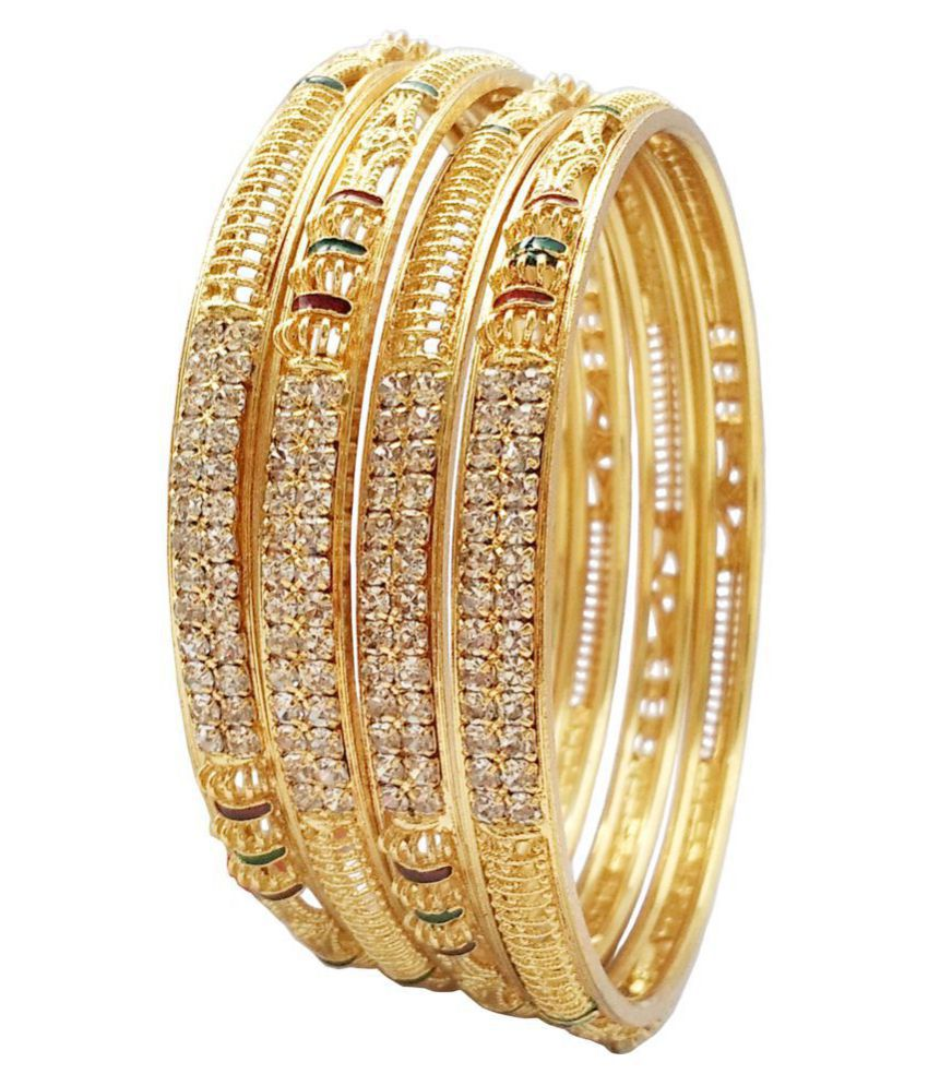 843c1facd Bhagya Lakshmi Traditional Artificial Gold Plated Bangles Set For Women ...