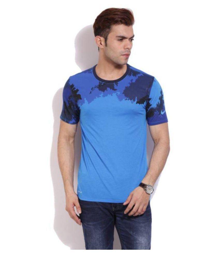 Nike Blue Round T-Shirt
