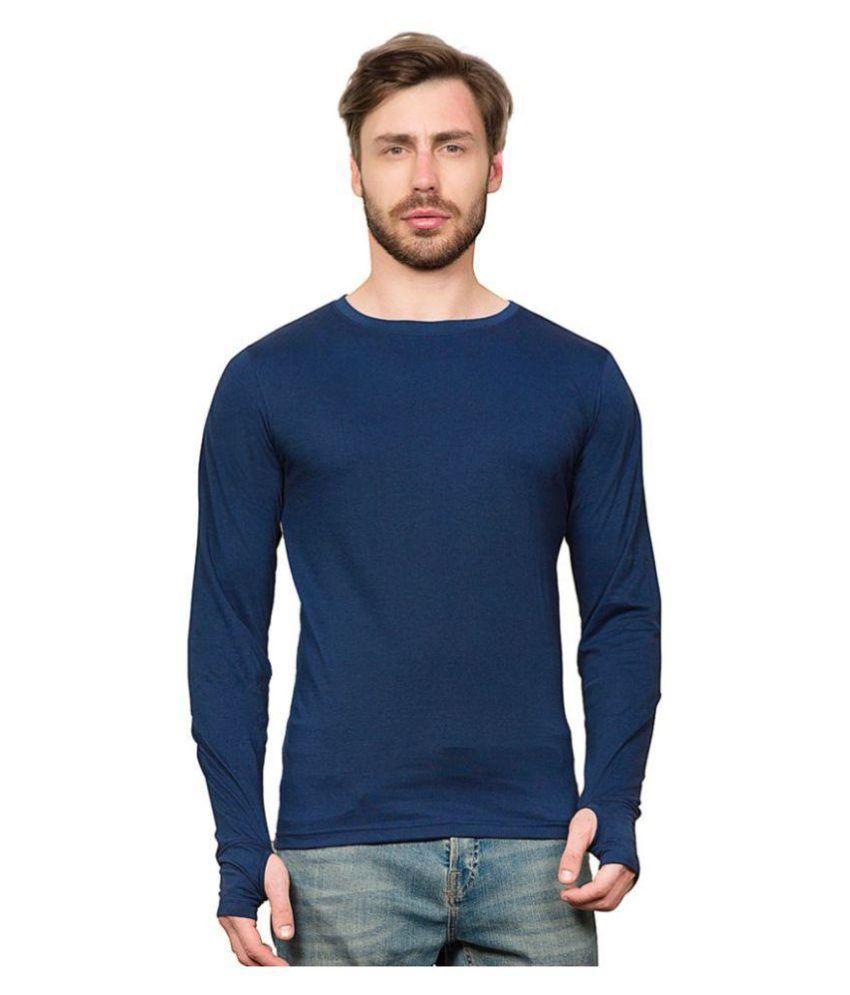 PAUSE Blue Round T-Shirt