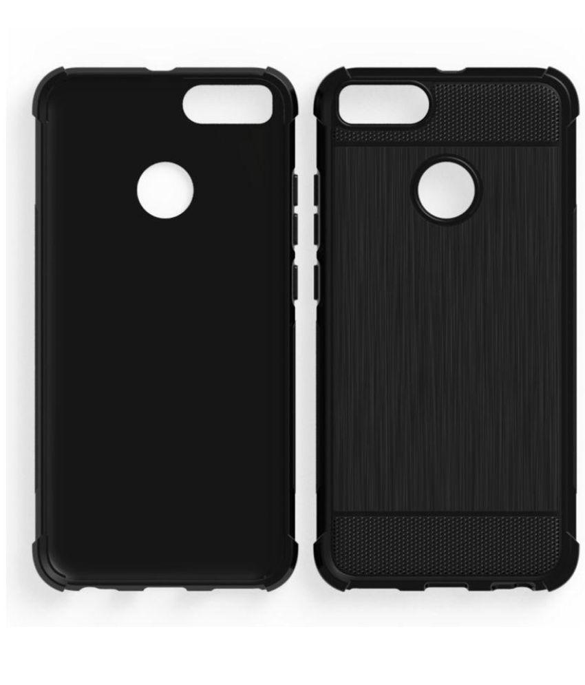 5479dd2e8b1 Xiaomi MI A1 Shock Proof Case Bracevor - Black - Plain Back Covers Online  at Low Prices