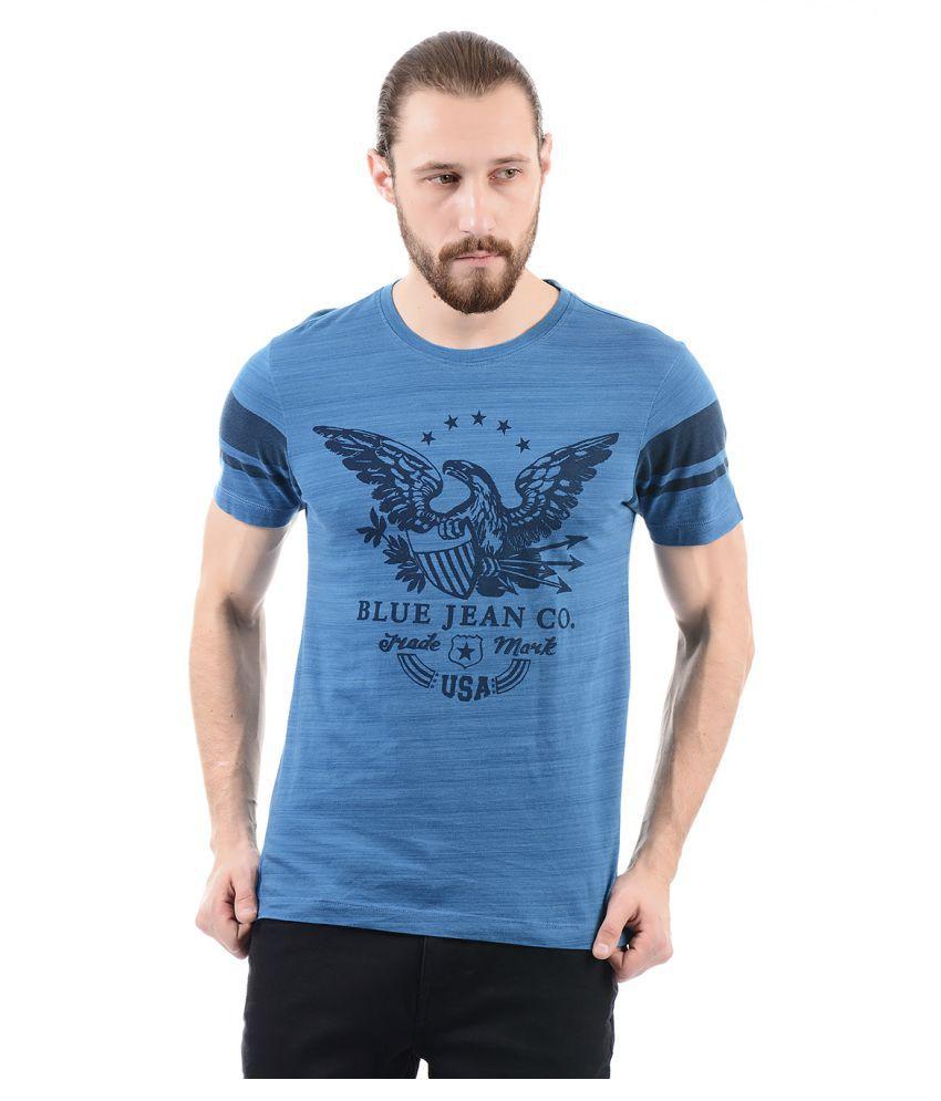 Arrow Blue Jean Blue Round T-Shirt