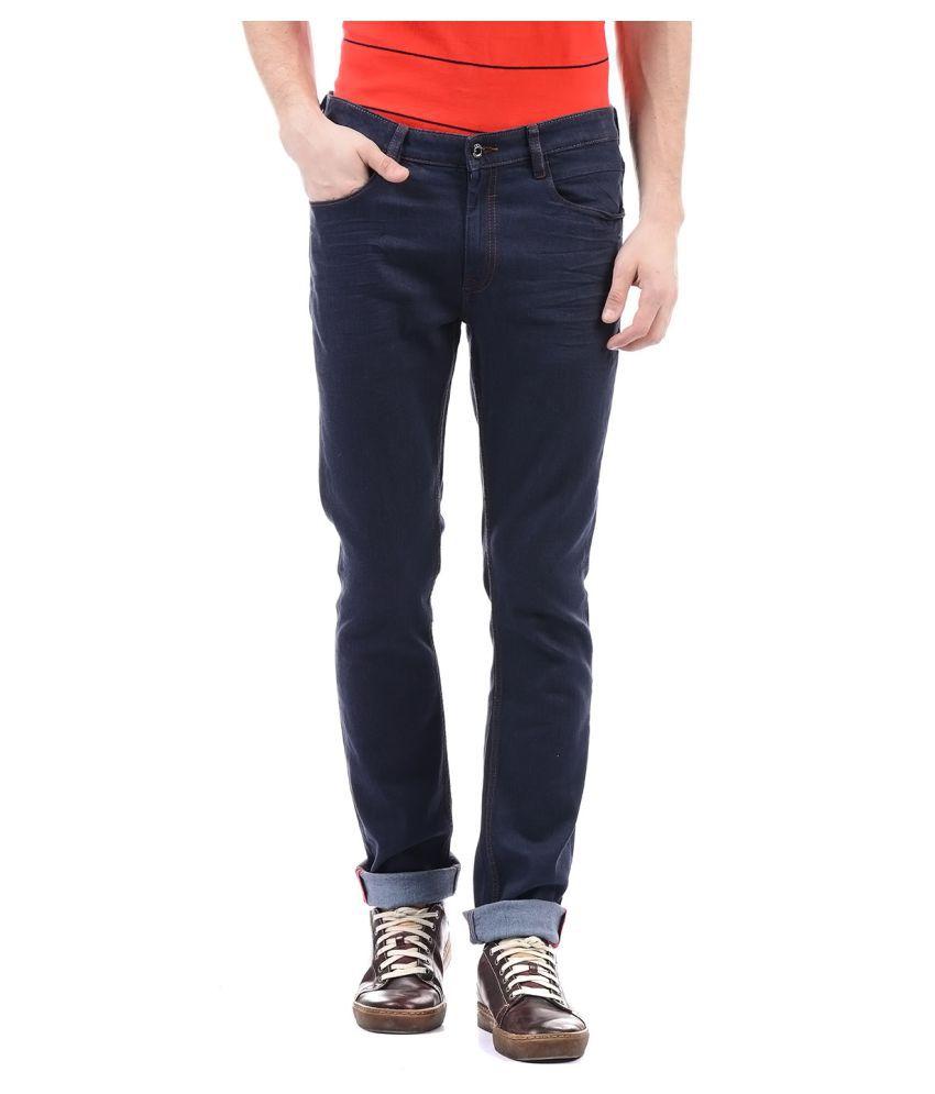 Arrow Newyork Dark Blue Regular Fit Jeans