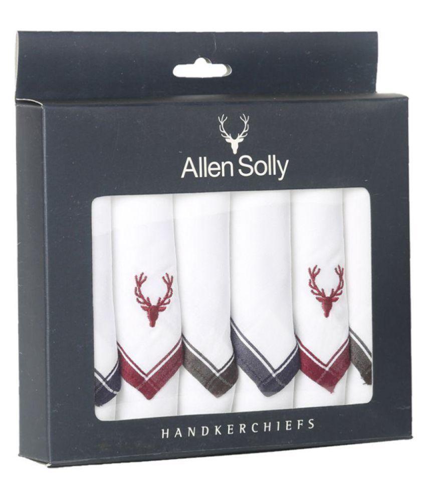allen solly cotton handkerchiefs pack of 6 contain brand