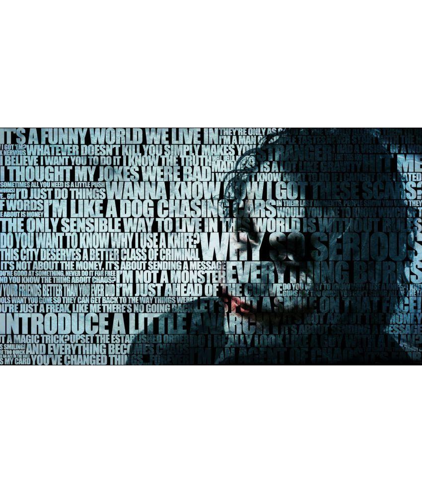 MAHALAXMI ART & CRAFT BATMAN QUOTES THE JOKER Canvas Wall Poster Without Frame