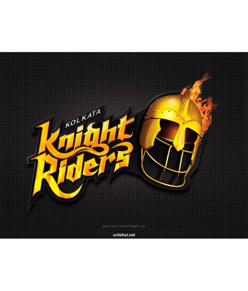 Mahalaxmi Art & Craft Ipl 2016 Kolkata Knight Riders Canvas Wall Poster Without Frame