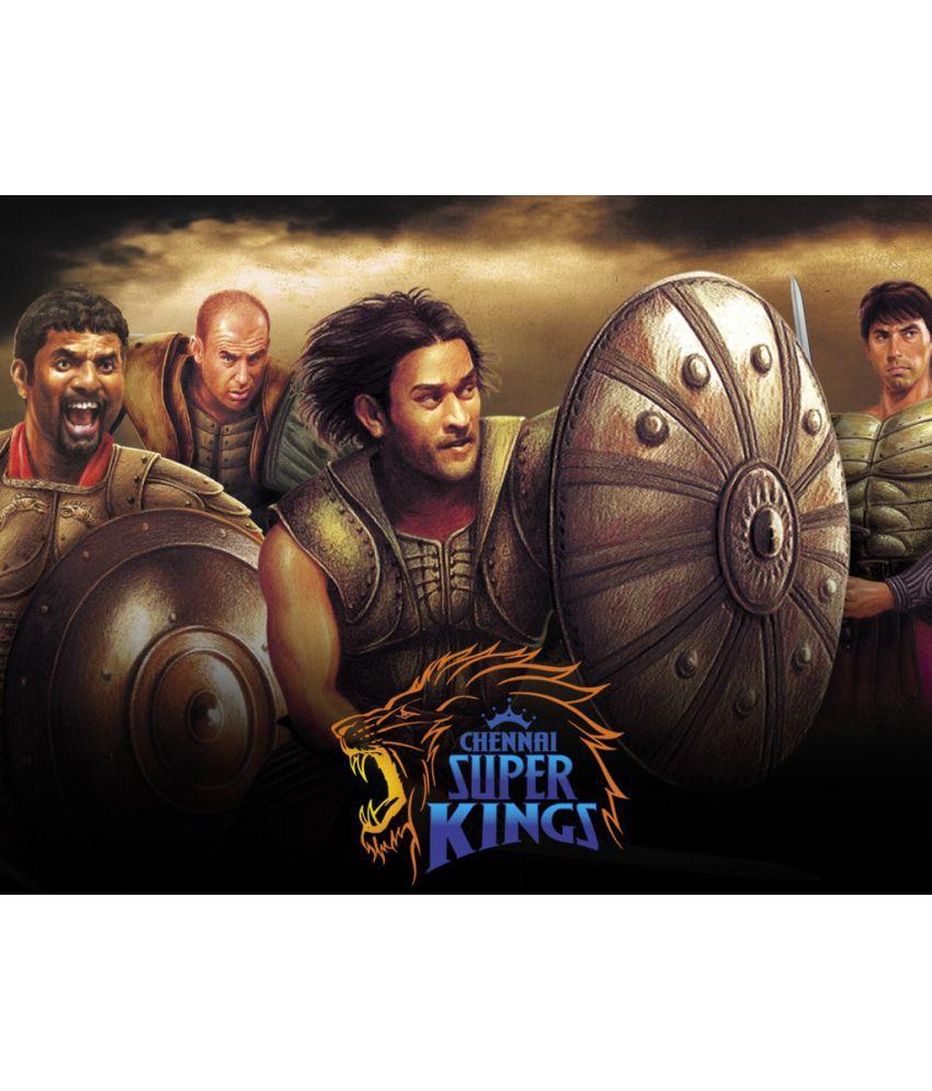 Mahalaxmi Art & Craft Ipl Hd Chennai Super Kings Canvas Wall Poster Without Frame