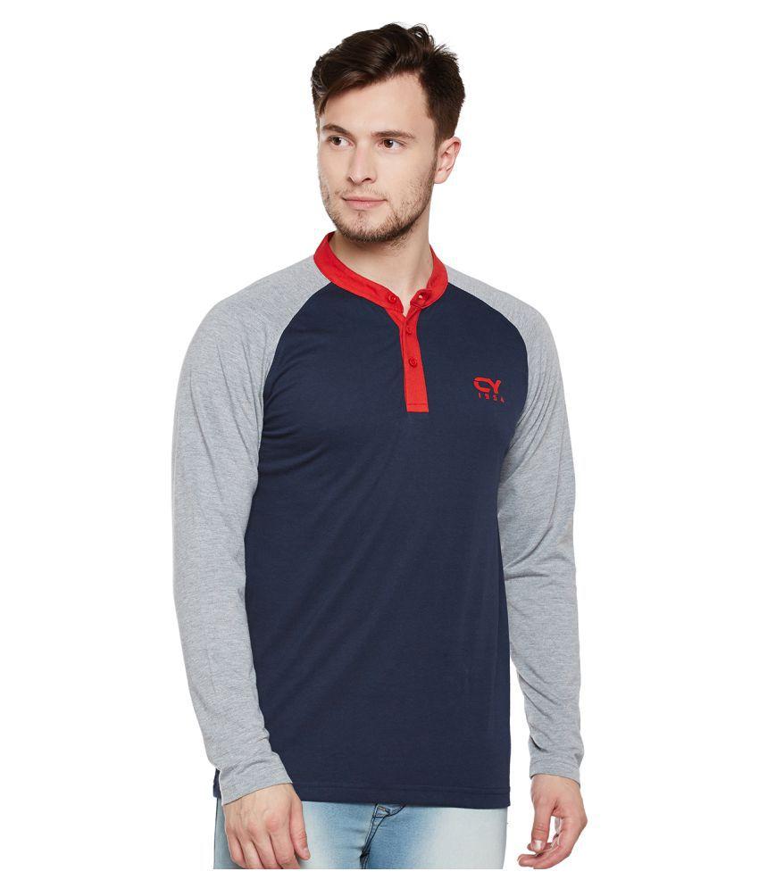 Club York Navy Henley T-Shirt