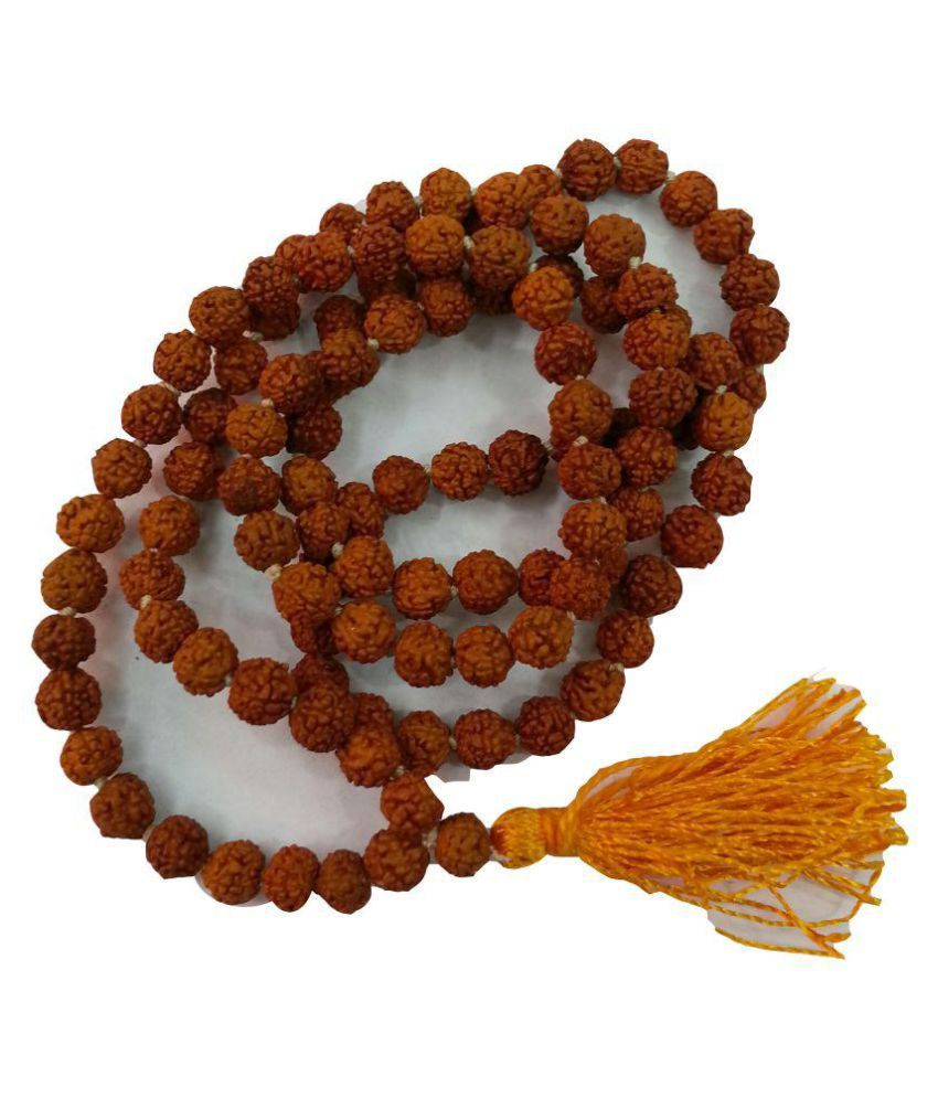 Natural 5 mukhi Rudraksh mala 108 beads 6 -6.30 mm size for wearing/ paanch mukhi rudraksh / 5 face rudraksh mala with healing properties  lab certified / 100% energised / Natural 5 face Rudraksh mala