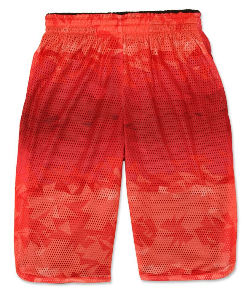 Jordan Boys Red Printed Shorts