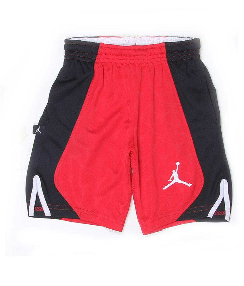 Jordan Boys Red Solid Shorts