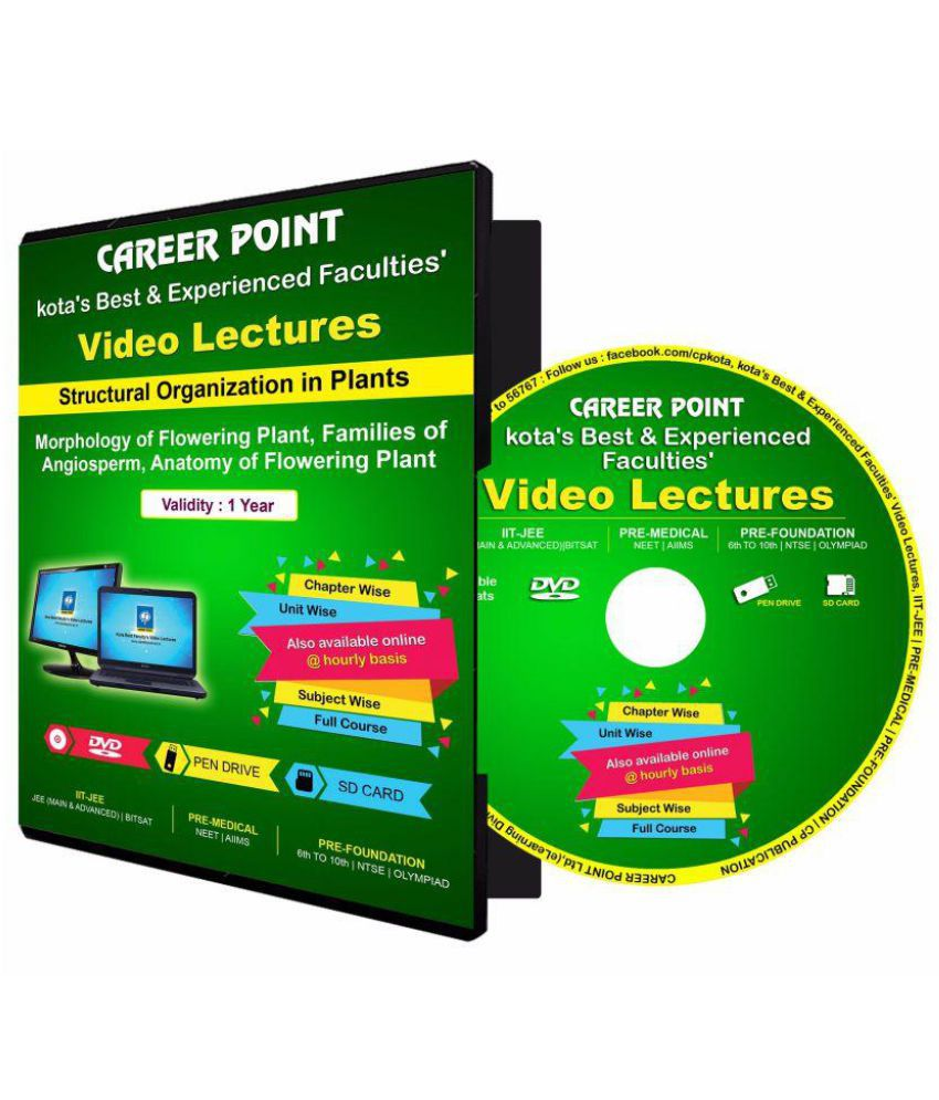 NEET Video Lectures on DVD : Structural Organization in Plants ...
