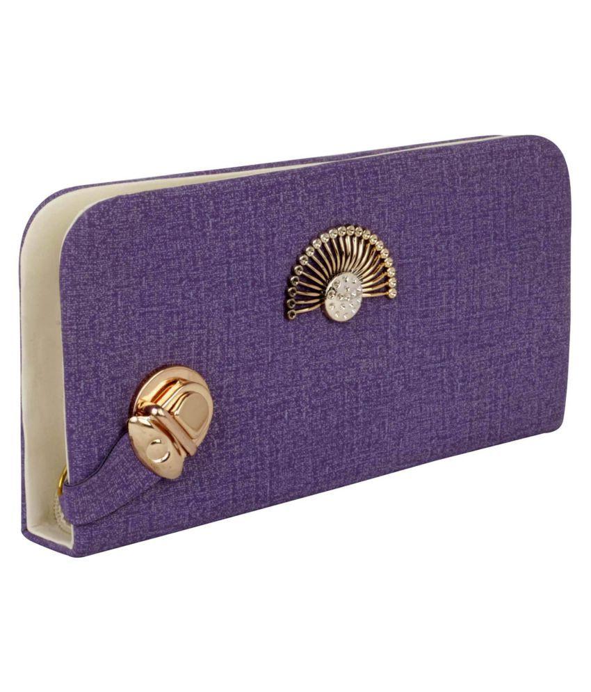 ROVEC Purple Fabric Box Clutch