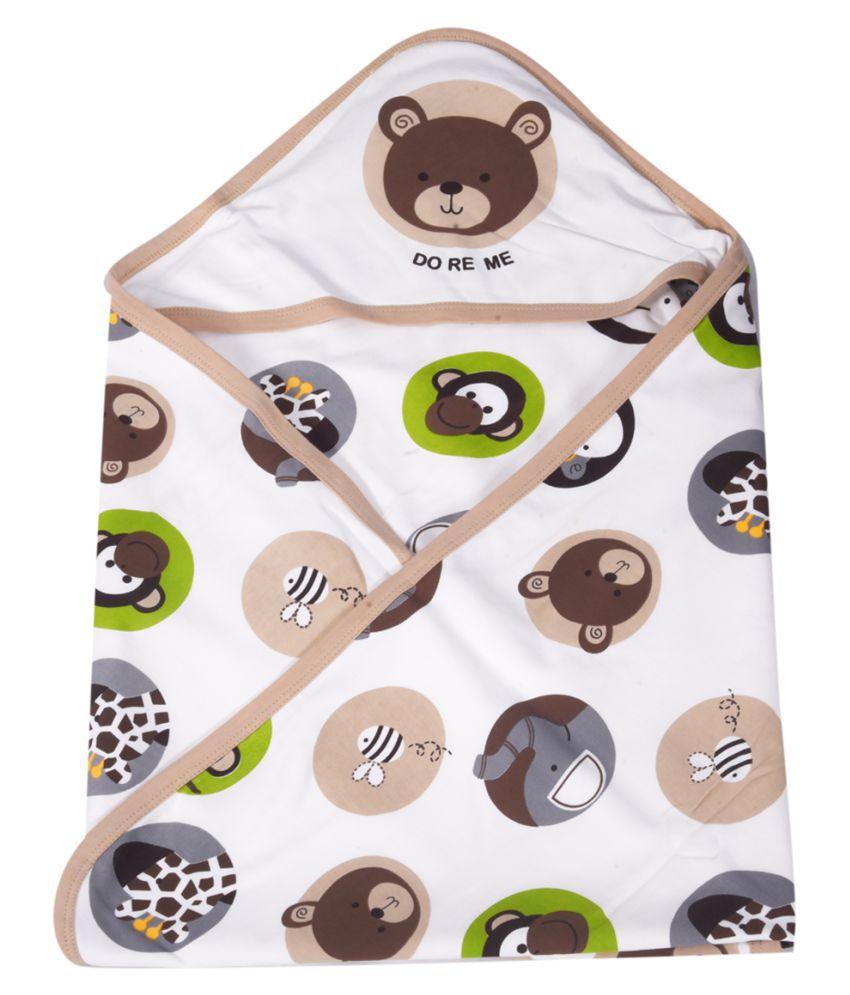 GURU KRIPA BABY PRODUCTS Brown Cotton Baby Wrap cum blanket ( 80 cm × 80 cm - 1 pcs)