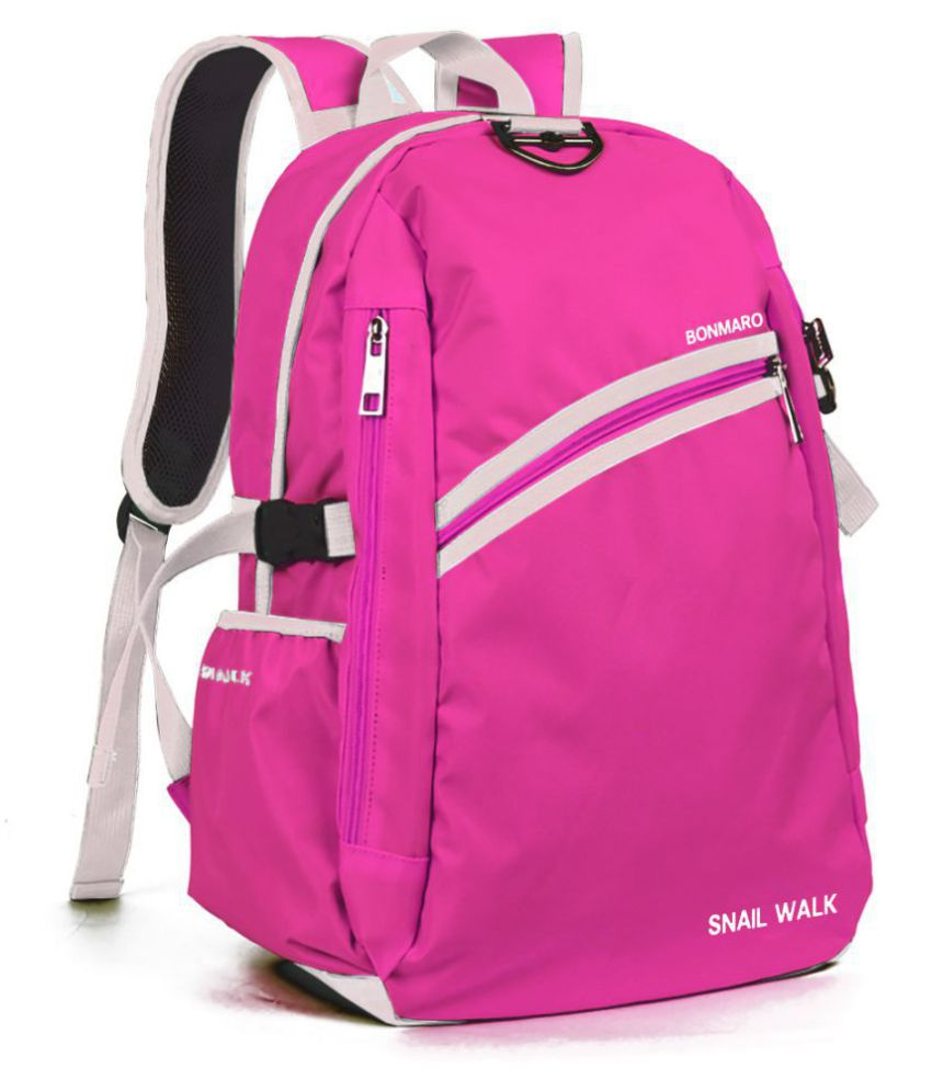ec7b640e11 Bonmaro Pink Polyester College Bag - Buy Bonmaro Pink Polyester College Bag  Online at Best Prices in India on Snapdeal