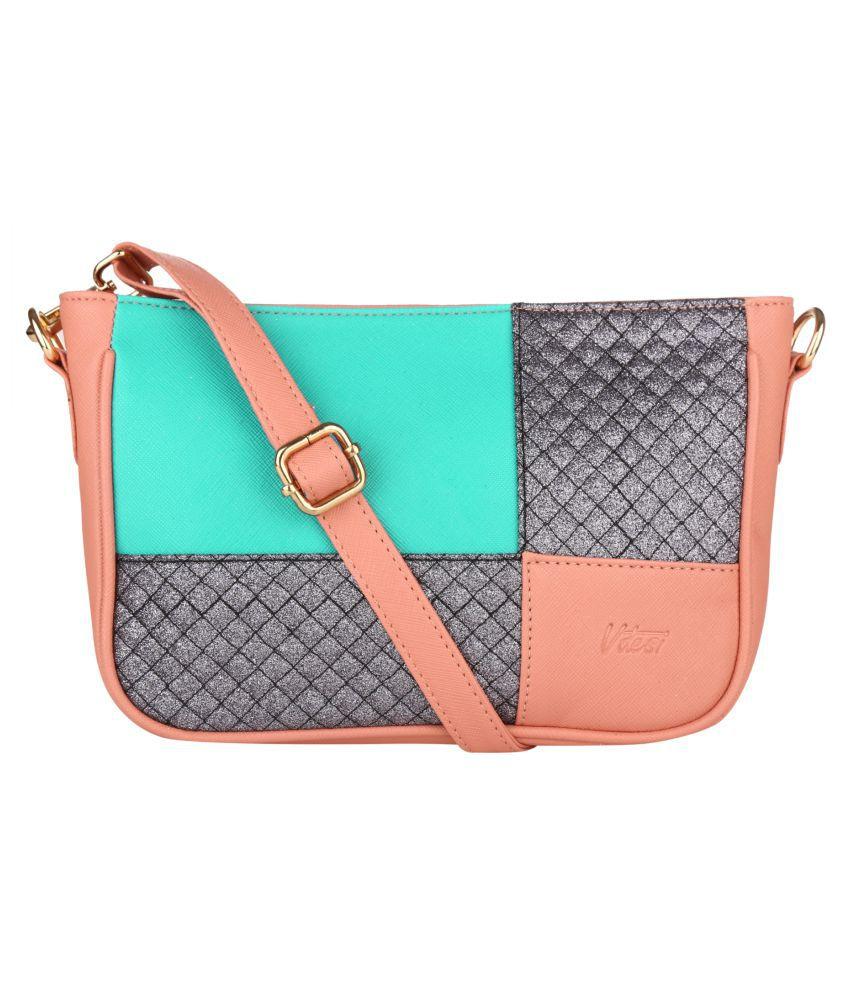Vdesi Pink P.U. Sling Bag