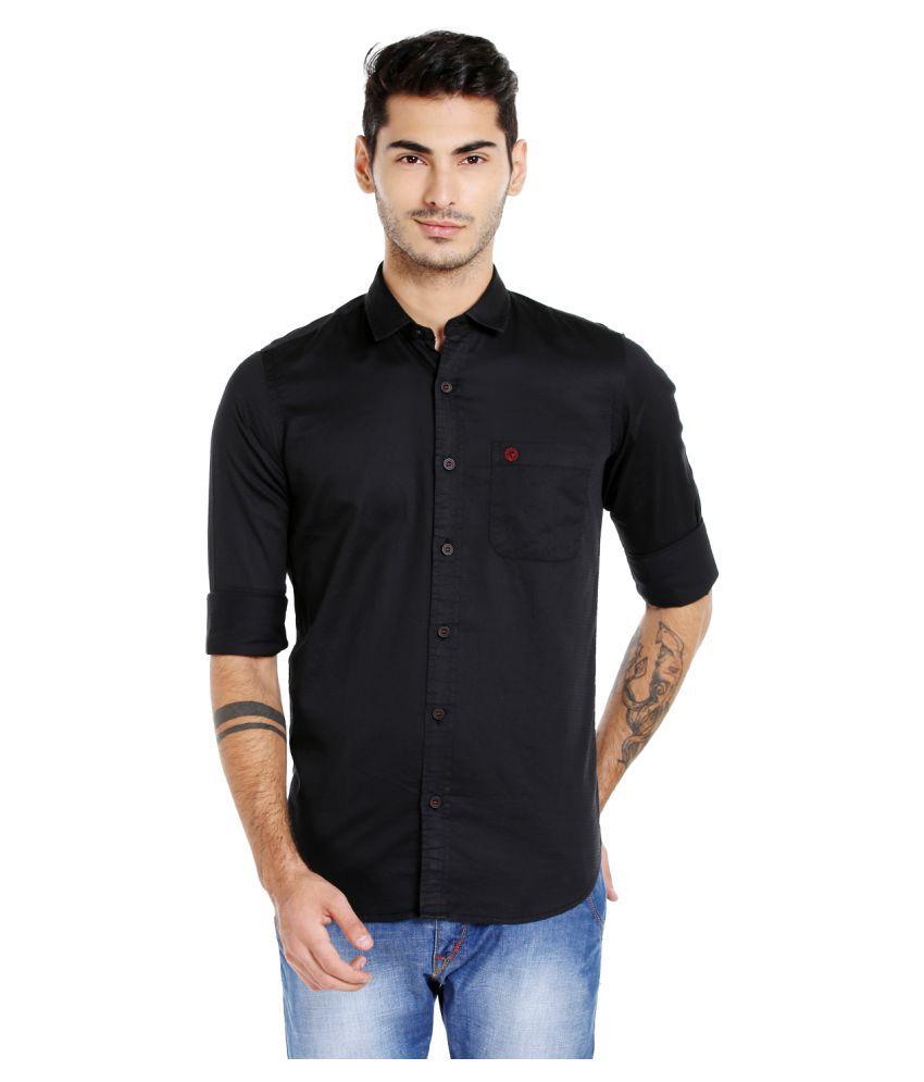 Integriti Black Casual Slim Fit Shirt