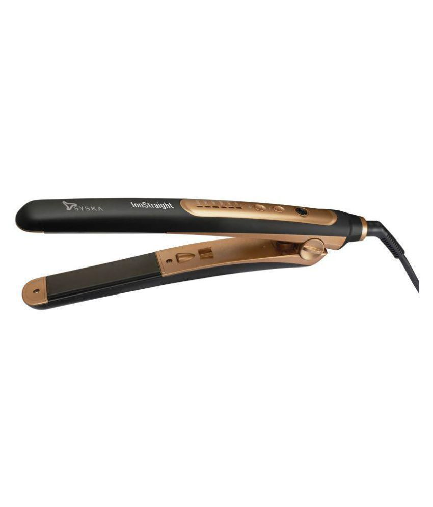 Syska HS2021i Hair Straightener ( Black Golden )