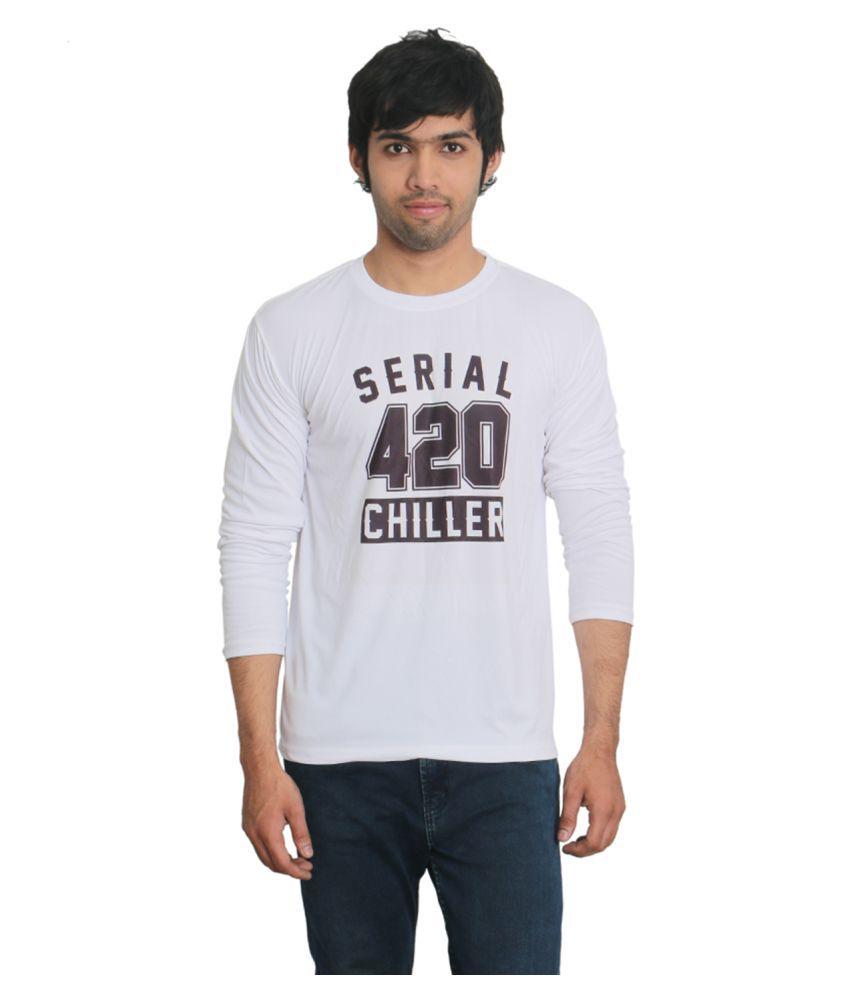 Fashion Bit White Round T-Shirt Pack of 1