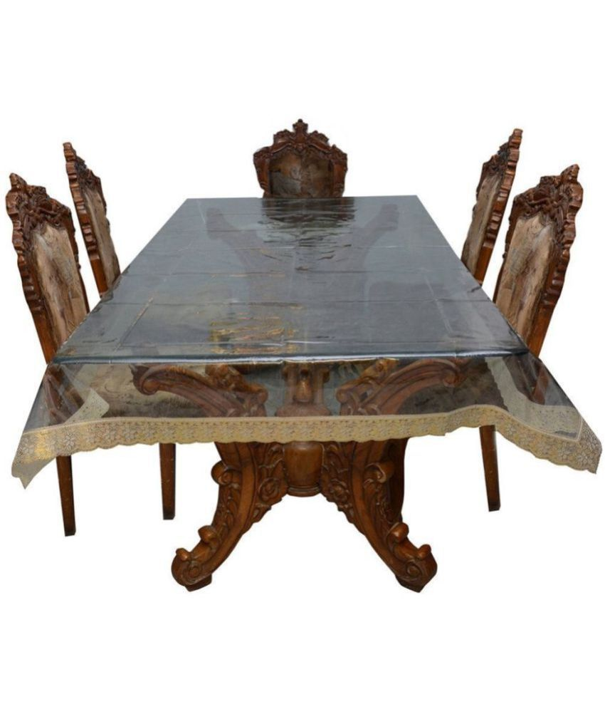 Griiham 8 Seater Transparent PVC Single Table Covers