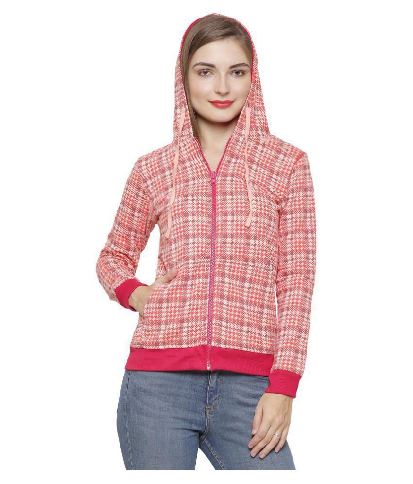 Maggivox Cotton Peach Hooded Sweatshirt