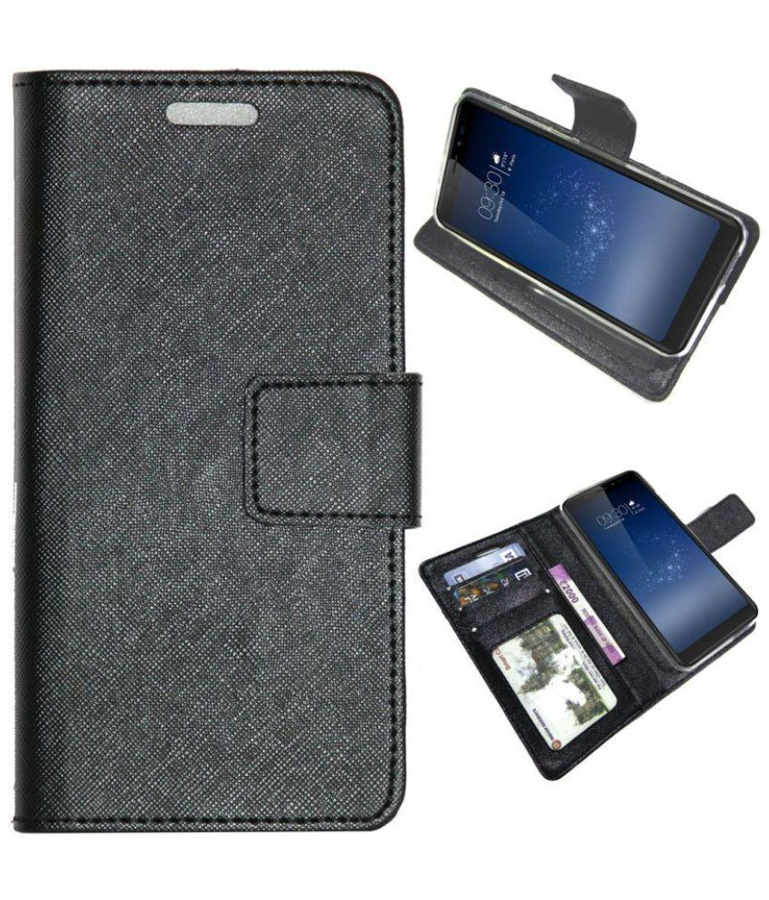 new products 957df 0c902 Micromax Canvas Infinity Flip Cover by Gizmofreaks - Black