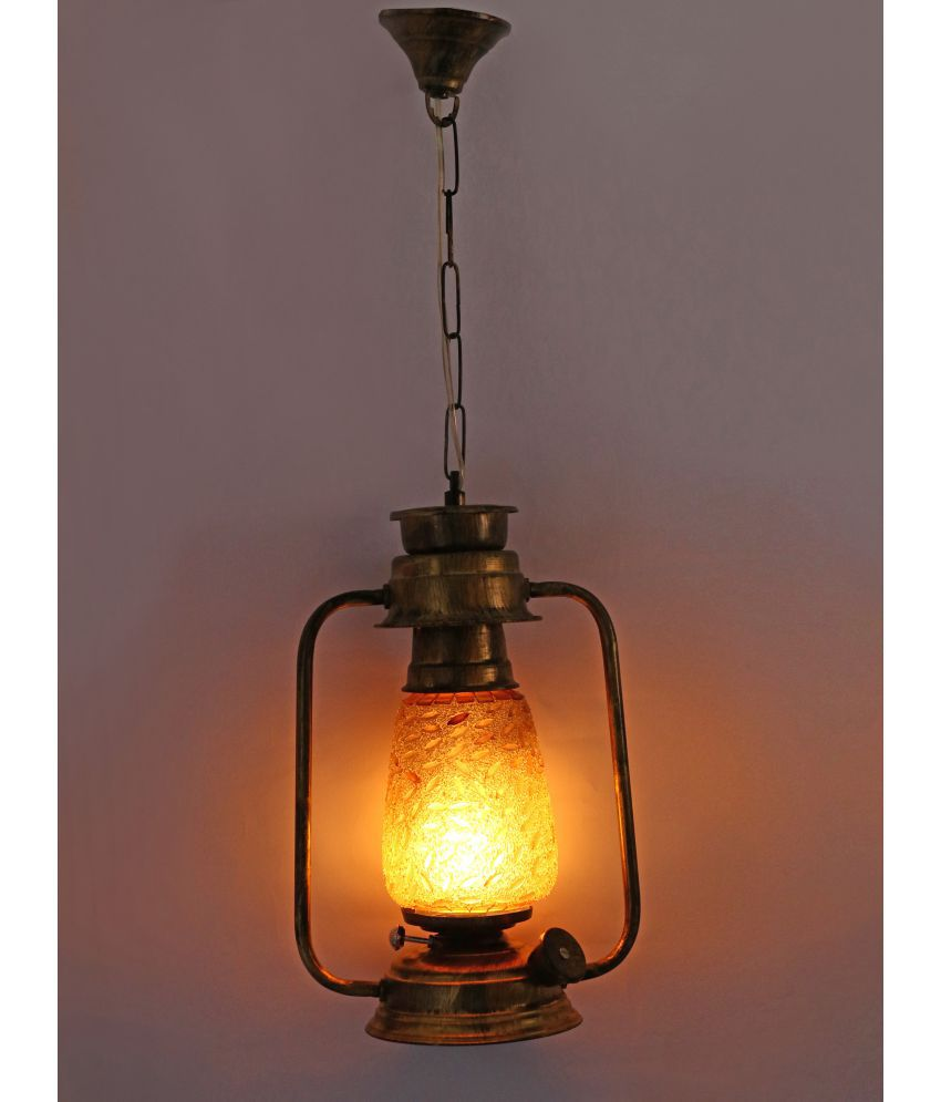 Somil Antique Hanging Lantern Lamp Light With Colorful Gl Perfect Match Of Trading And Traditional A5 Lanterns 61 Pack 1