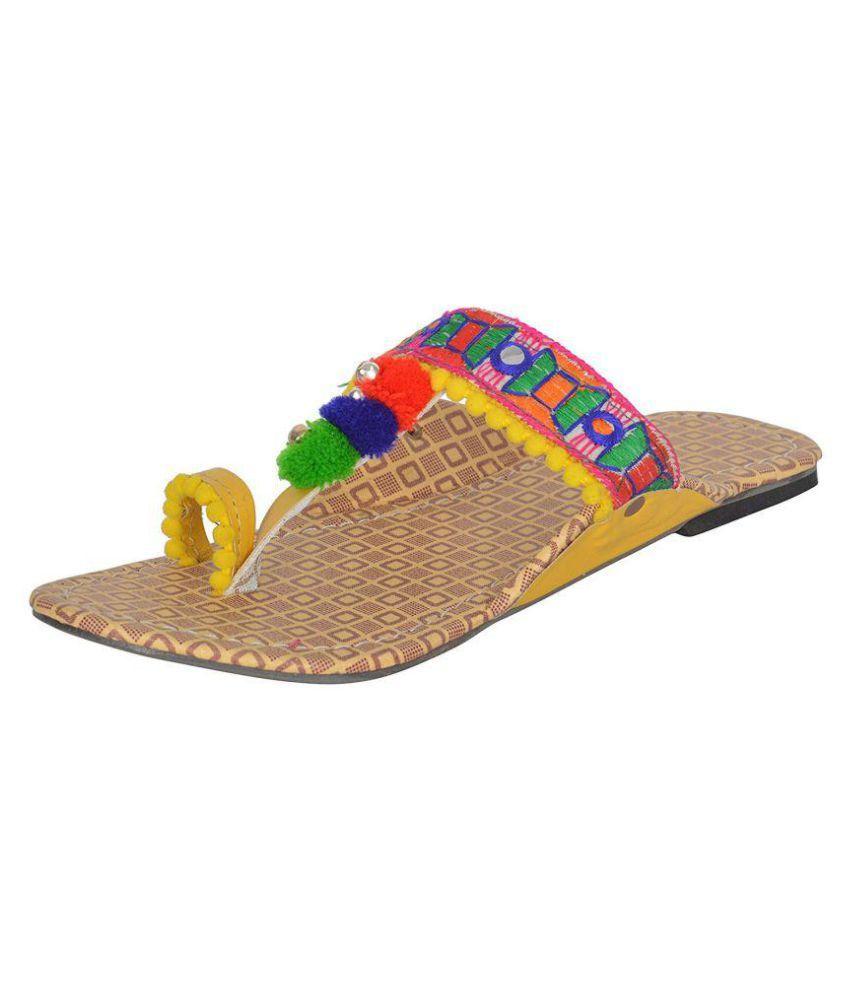 bishnoi Multi Color Ethnic Footwear