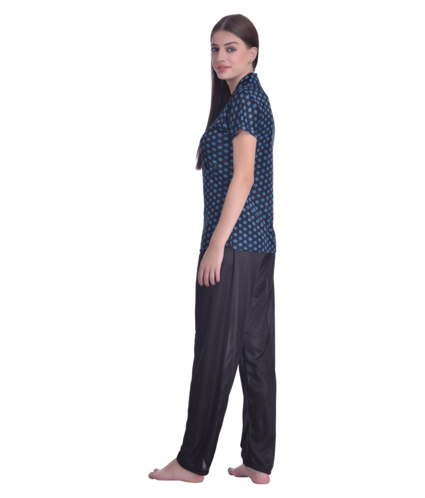 66ec188c81c Buy Adonia Poly Cotton Night Shirts - Black Online at Best Prices in ...