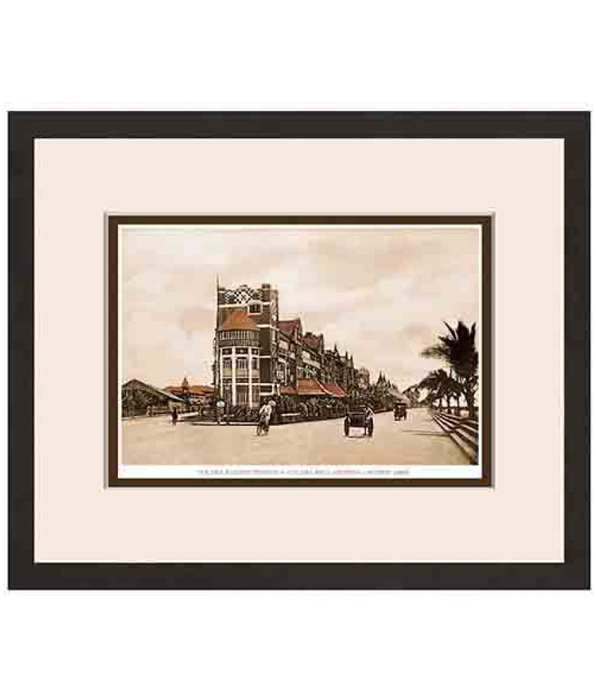 Magnate Publishing House Old Vintage Bombay Colaba Reclamation Wood Photo Wall Poster With Frame