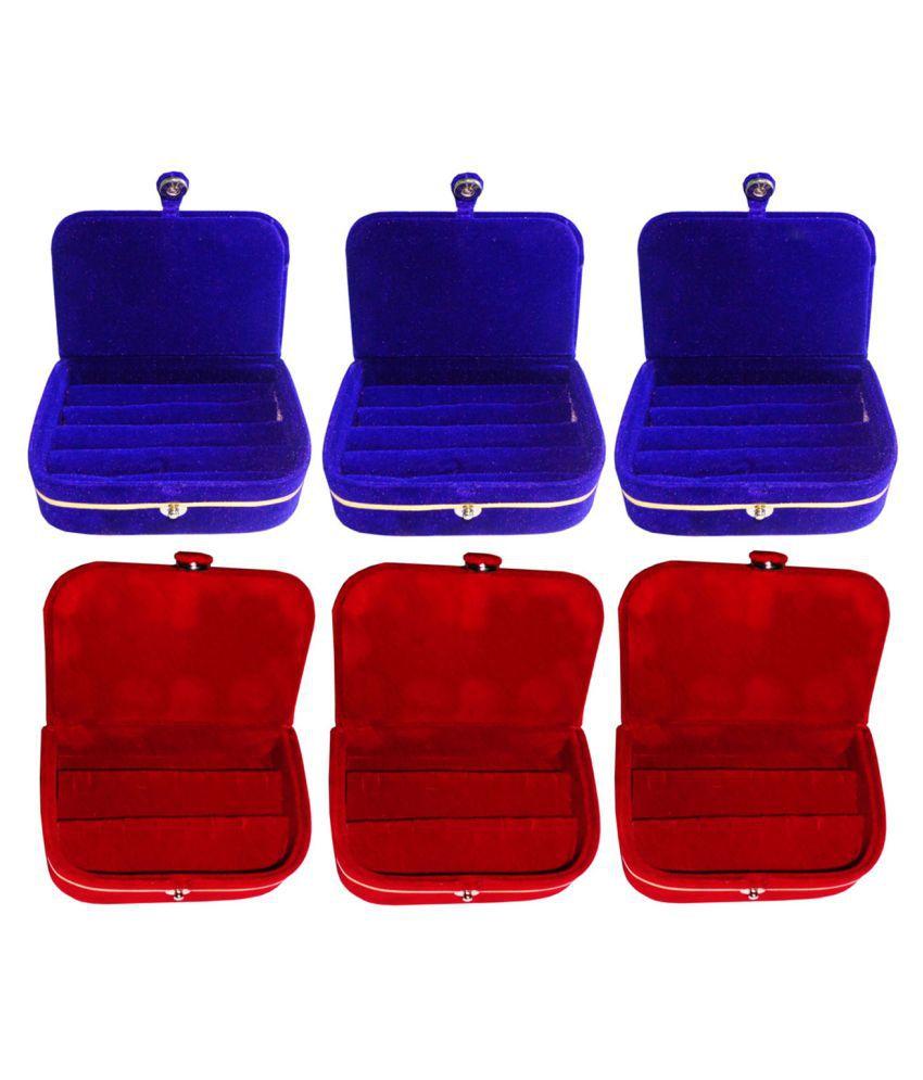 Sabita Combo of 3 pcs earEar ring folder and 3 pcs Ear ring jewelry box