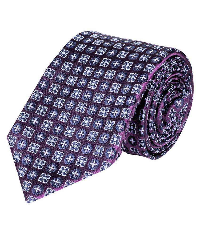 Tiekart Purple Floral Silk Necktie