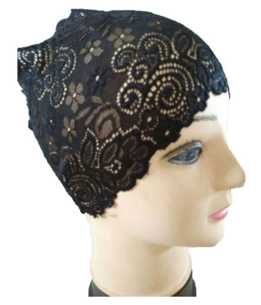 6af5c20cd2dc1 Hijab BLACK LACE NET TUBE CAP Women Under Scarf Stole Bonnet Head Hair Band  Muslim Abaya: Buy Online at Low Price in India - Snapdeal