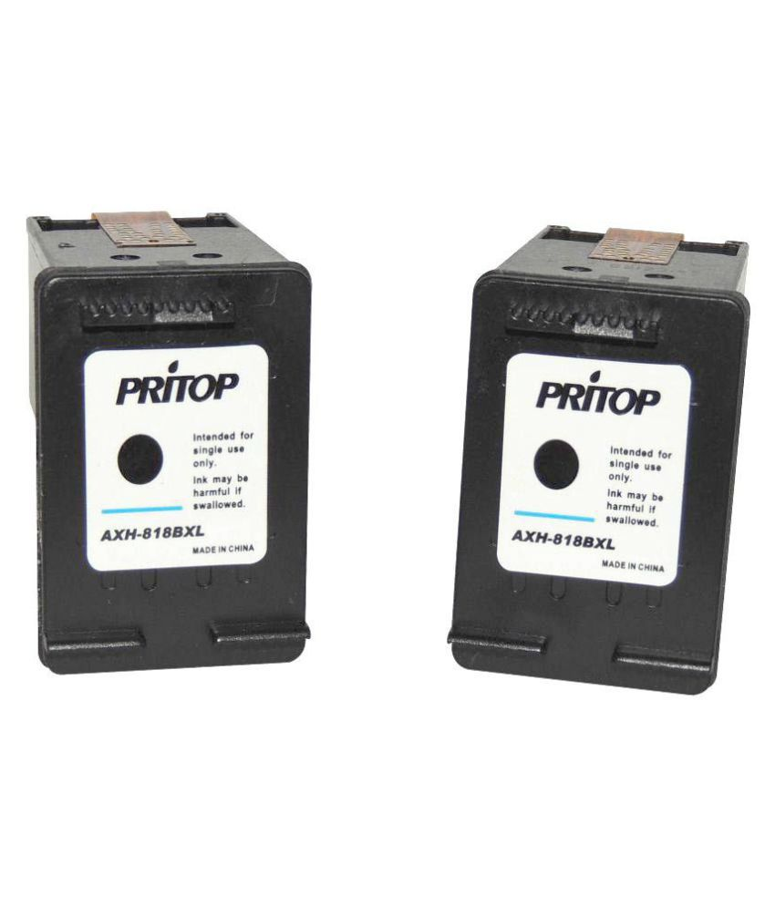 9951de9da24c Pritop 818-1668 2568 2668 Black Ink Pack of 2 - Buy Pritop  818-1668 2568 2668 Black Ink Pack of 2 Online at Low Price in India -  Snapdeal