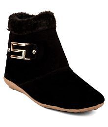 Cute Fashion Black Ankle Length UGG Boots