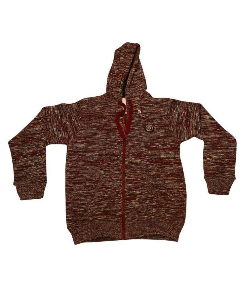 Cuddlezz Multicolour Fleece Front Open Sweatshirt