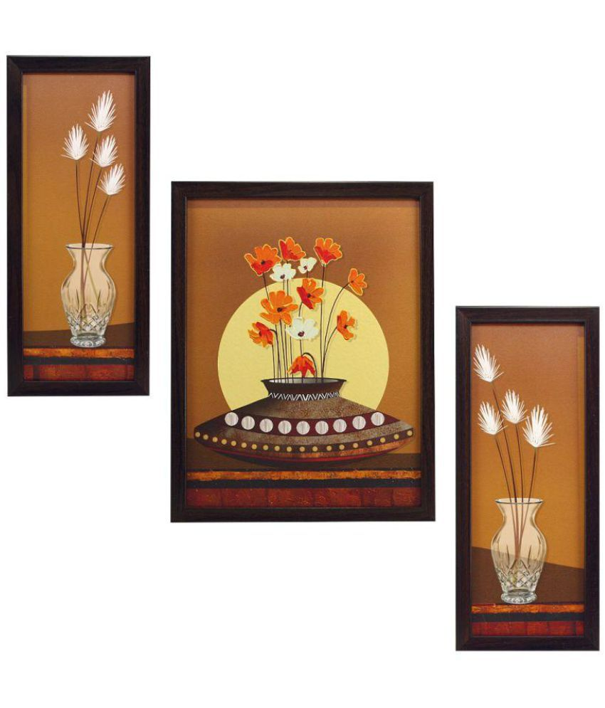 Indianara flower MDF Painting With Frame
