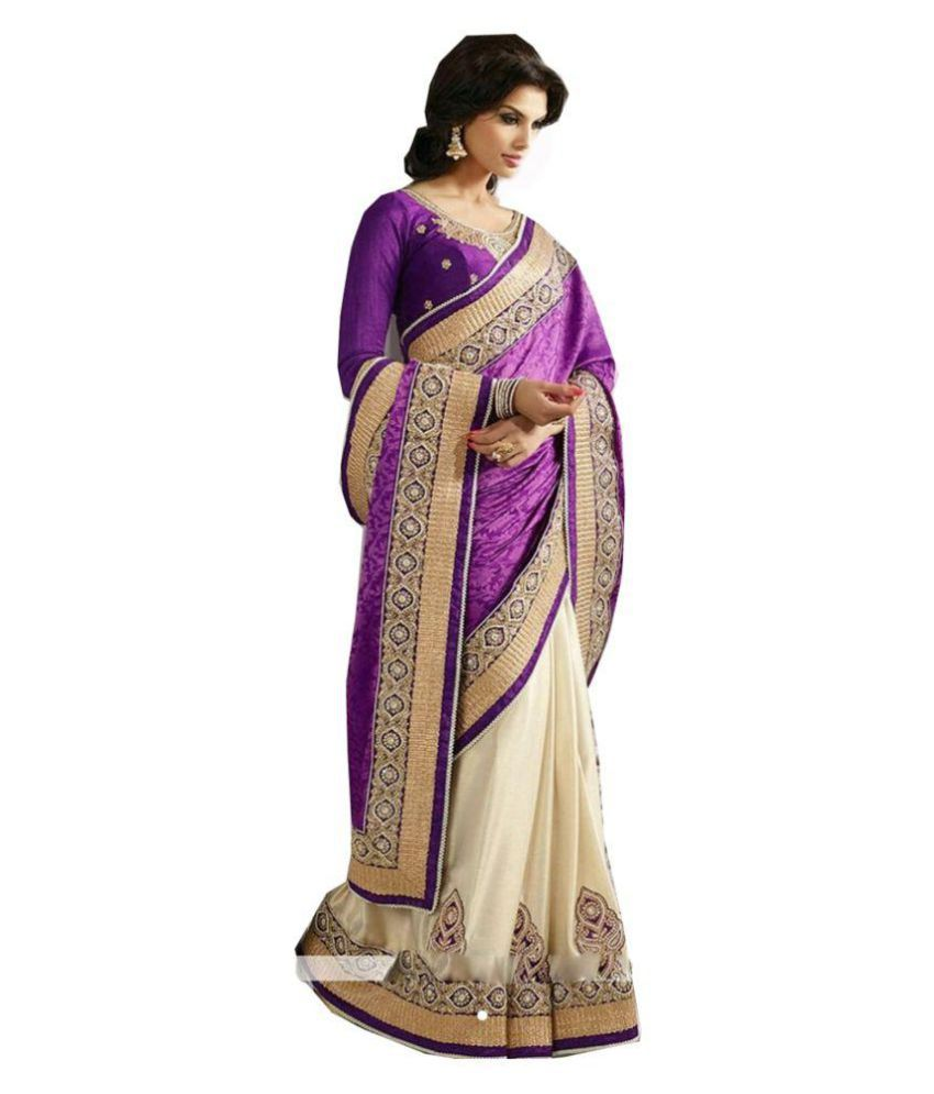 Party-Wear Bollywood Sadi Multicoloured Georgette Saree