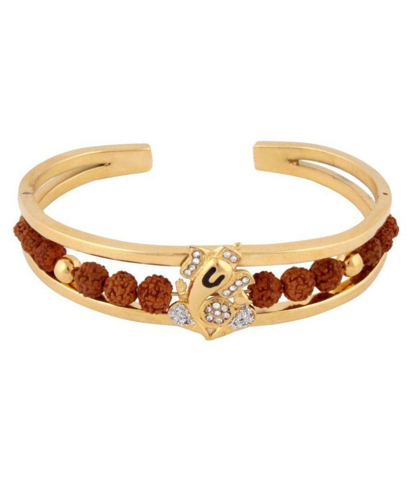 Vivaan Ganesh Golden Rudraksha Bracelet For Men