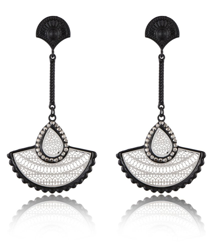 Jazz Jewellers Antique Look Classic Designer Party wear Long Dangler Fashion Stylish Earrings For Women Girls Ladies